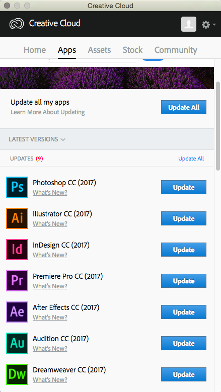 Adobe Creative Cloud App